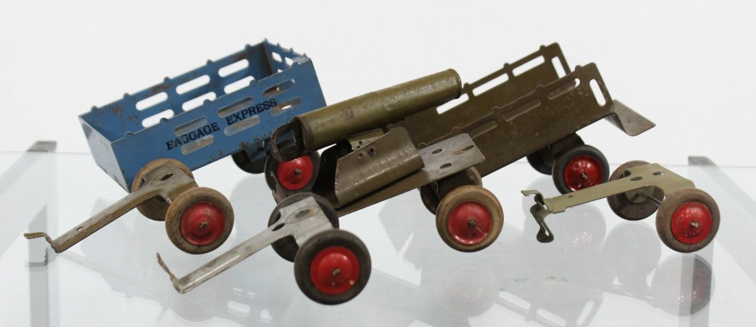 Antique Toy Accessory BAGGAGE EXPRESS, CART, CANNON