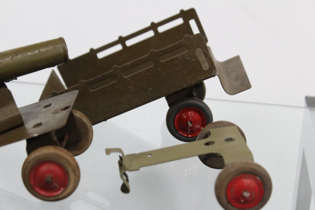 Antique Toy Accessory BAGGAGE EXPRESS, CART, CANNON - 4