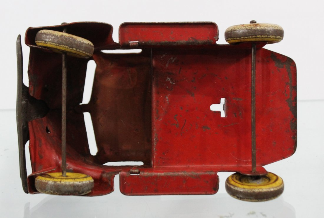 Antique PRESSED STEEL DELUXE DELIVERY CAR CARRIER Red - 8