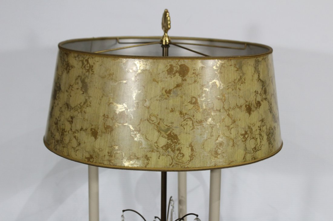 Quality STIFFEL Brass Table Lamp With Prisms - 2