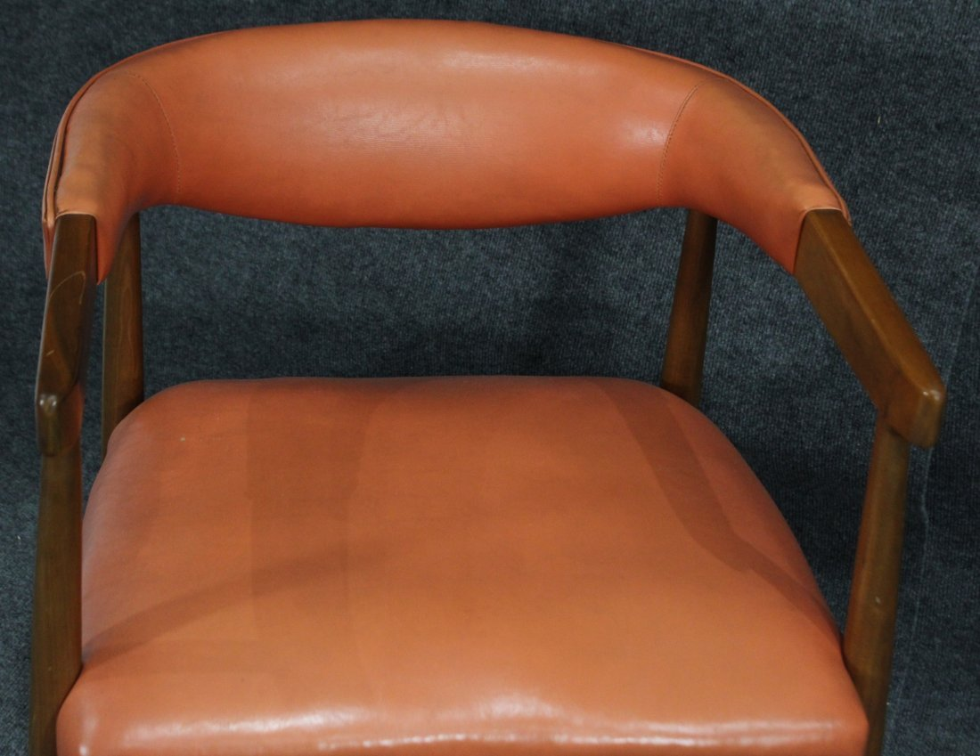 Mid Century Modern Danish Design Barrel Back Arm Chair - 3