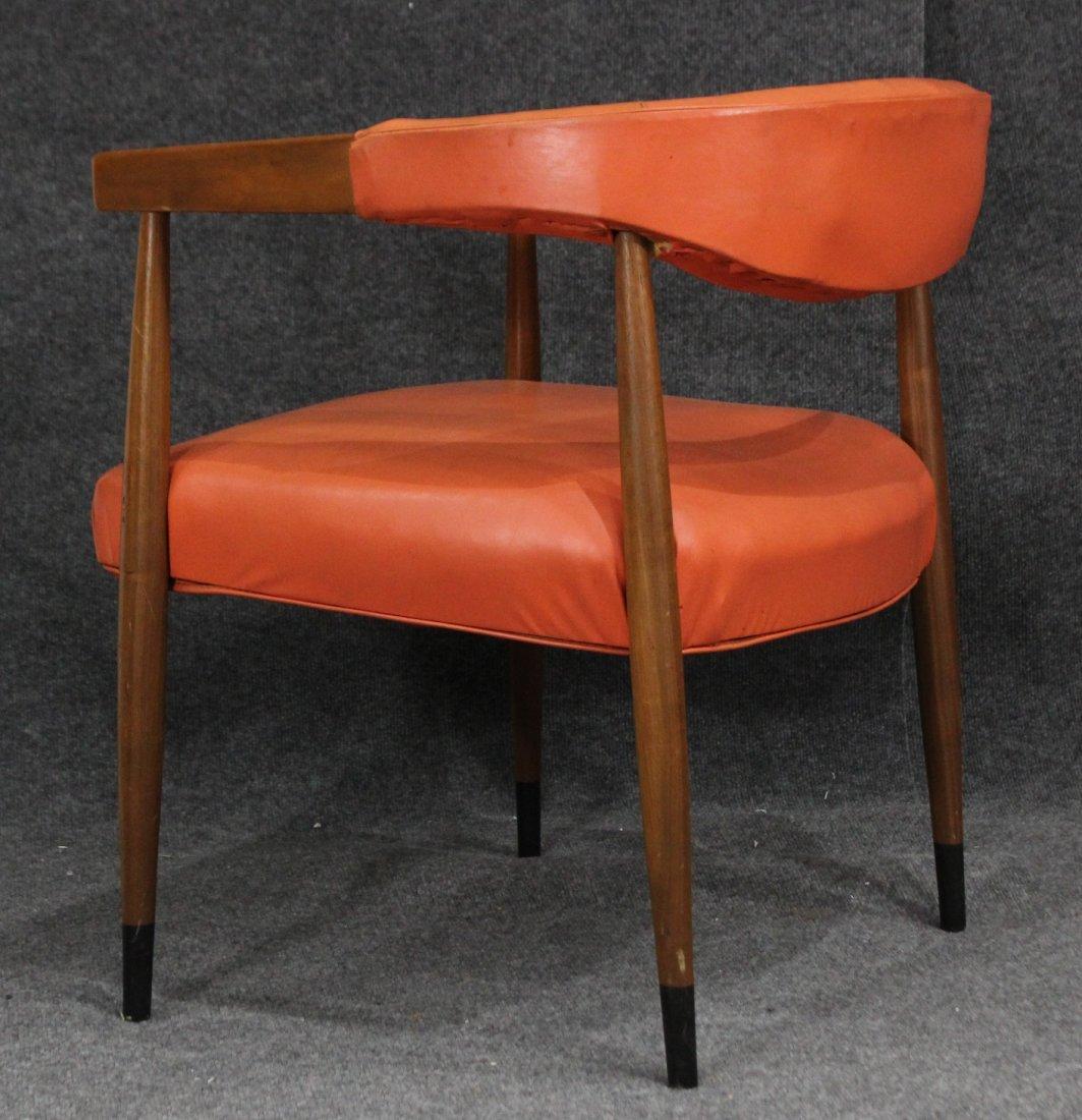 Mid Century Modern Danish Design Barrel Back Arm Chair - 4