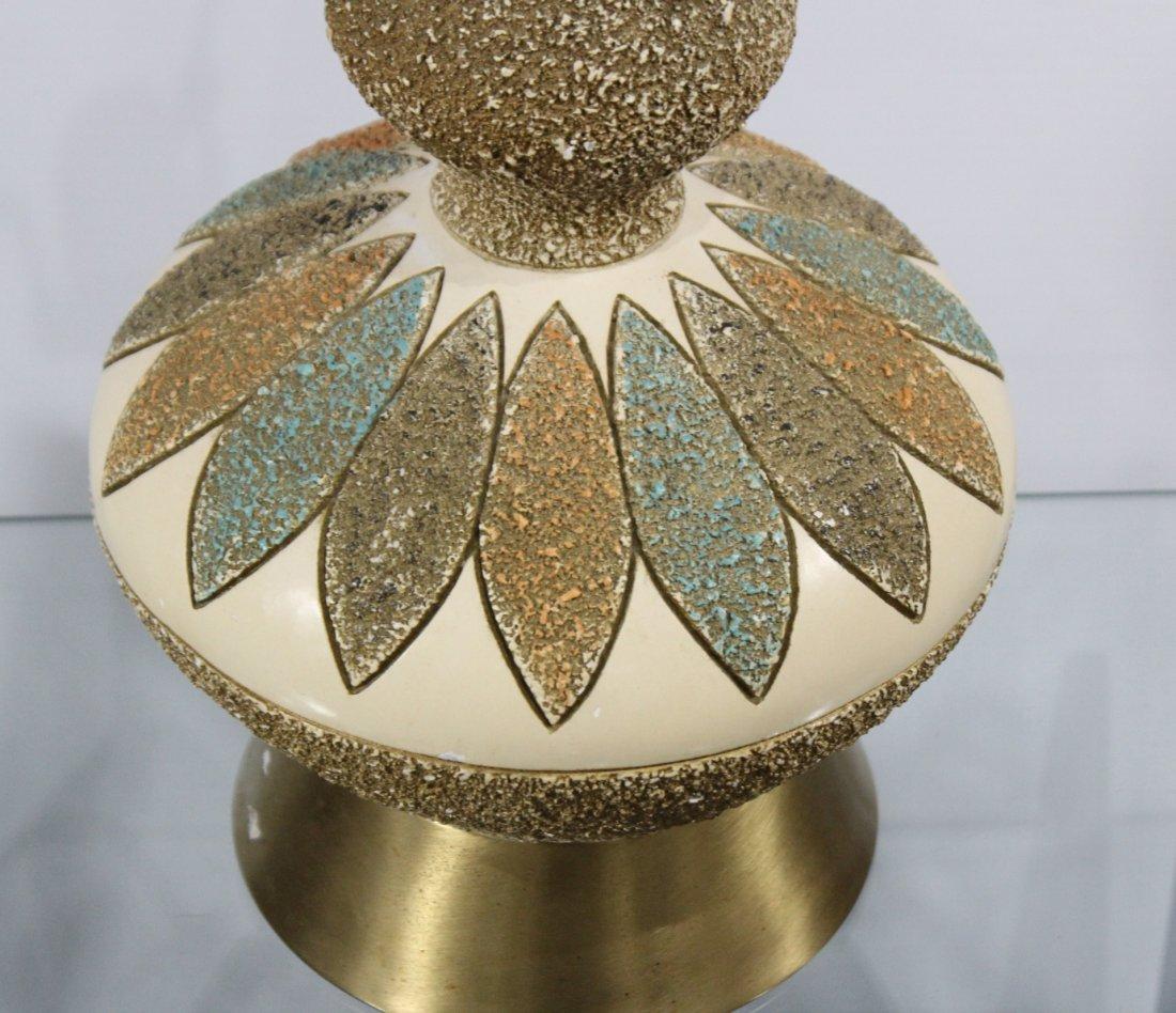 MID CENTURY MODERN CERAMIC TABLE LAMP - 4