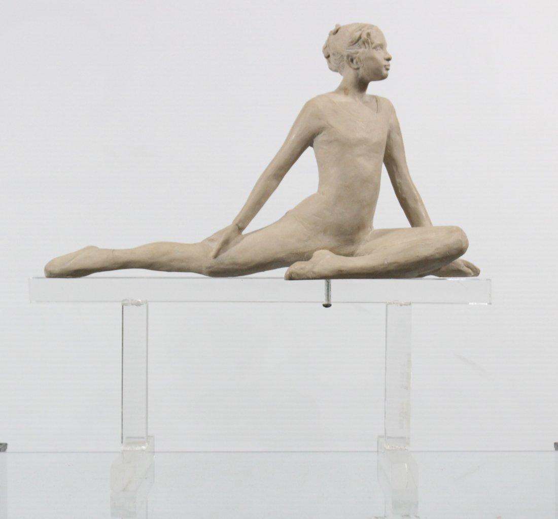 Ceramic Female Dancer On Lucite Stand Austin Production