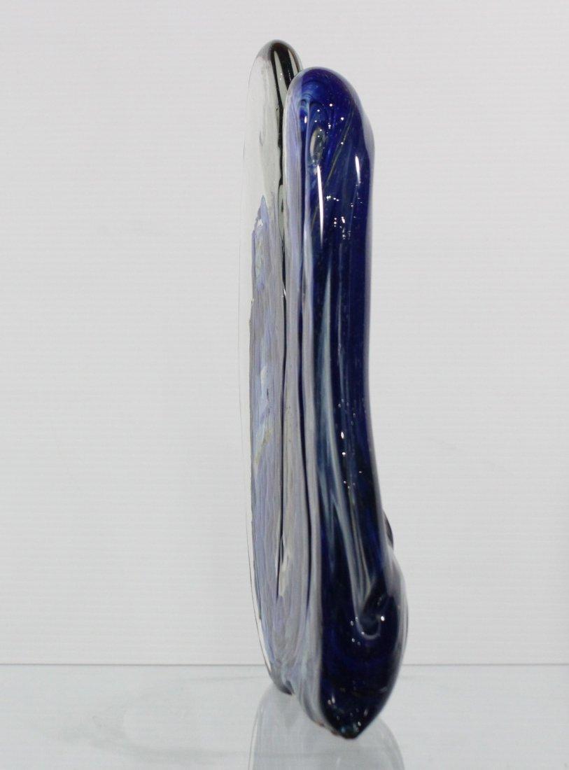 Fabulous Signed STUDIO ART GLASS SCULPTURE BLUE - 5
