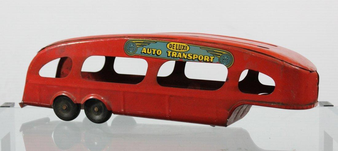 Antique MARX PRESSED STEEL DELUXE AUTO TRANSPORT BODY