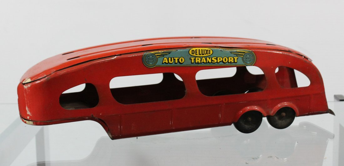 Antique MARX PRESSED STEEL DELUXE AUTO TRANSPORT BODY - 3