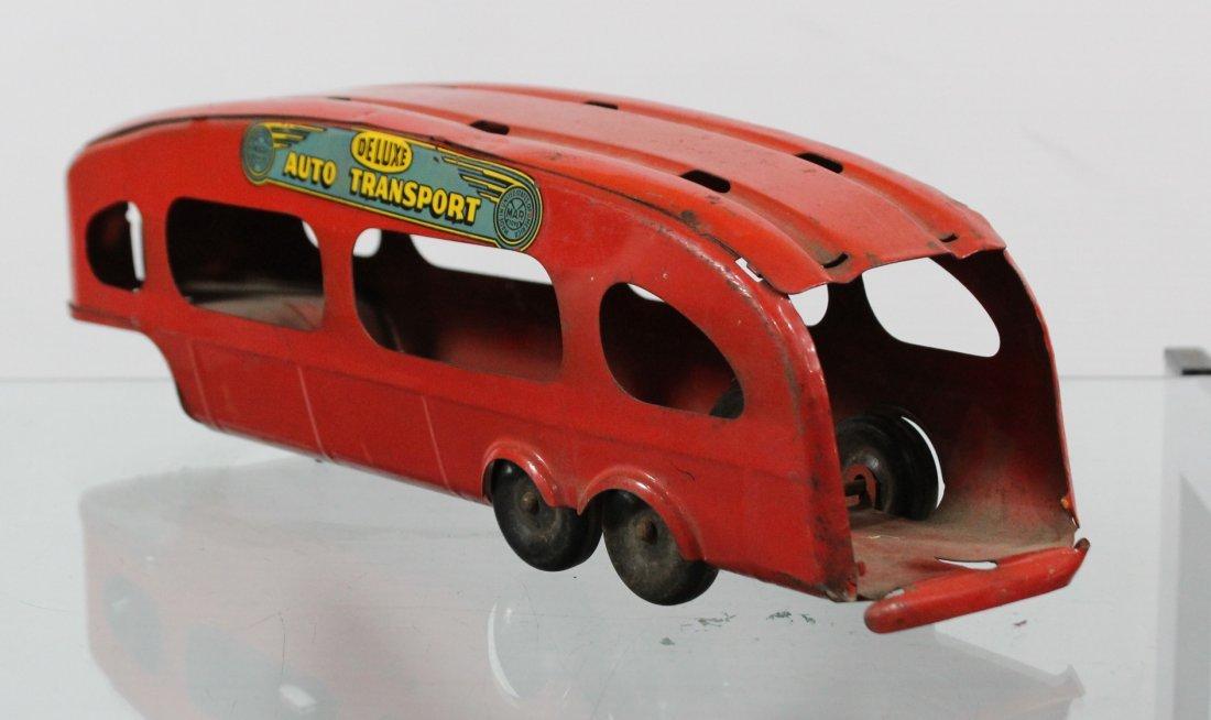 Antique MARX PRESSED STEEL DELUXE AUTO TRANSPORT BODY - 4