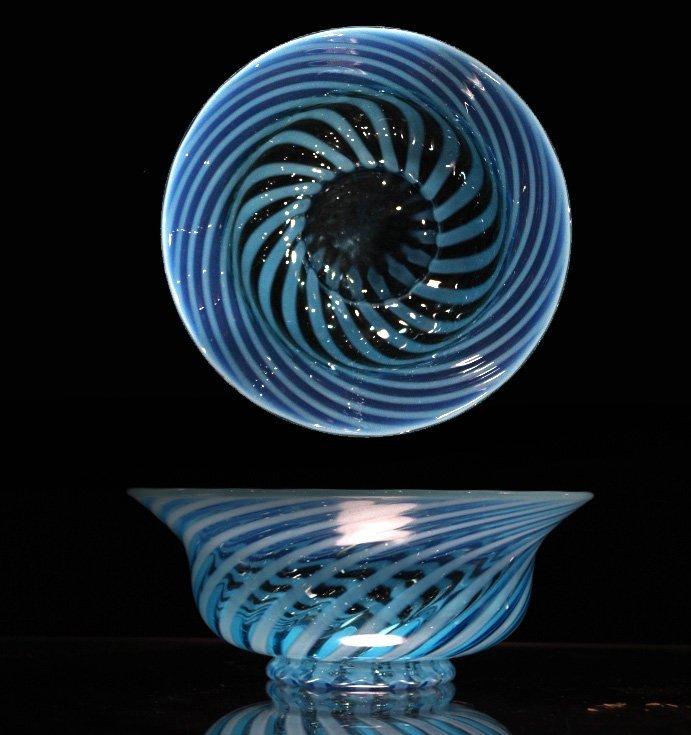 Fantastic OPALESCENT SWIRL GLASS BOWL
