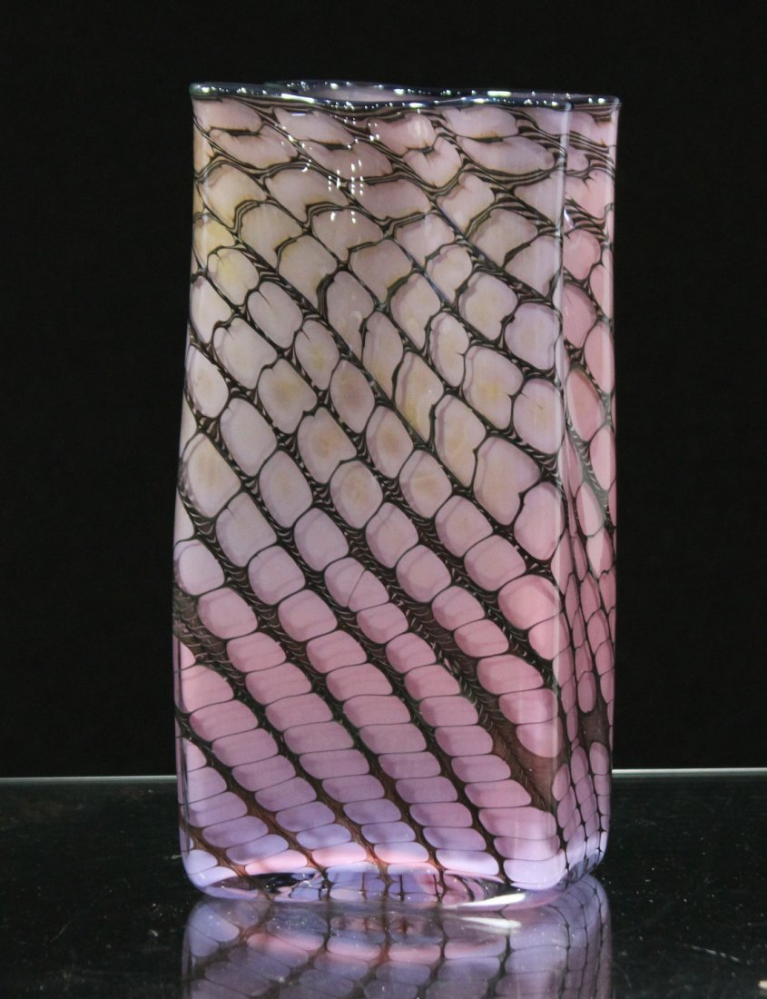 "Super Mid Century Italian Art Glass ""Paper Bag"" VASE"