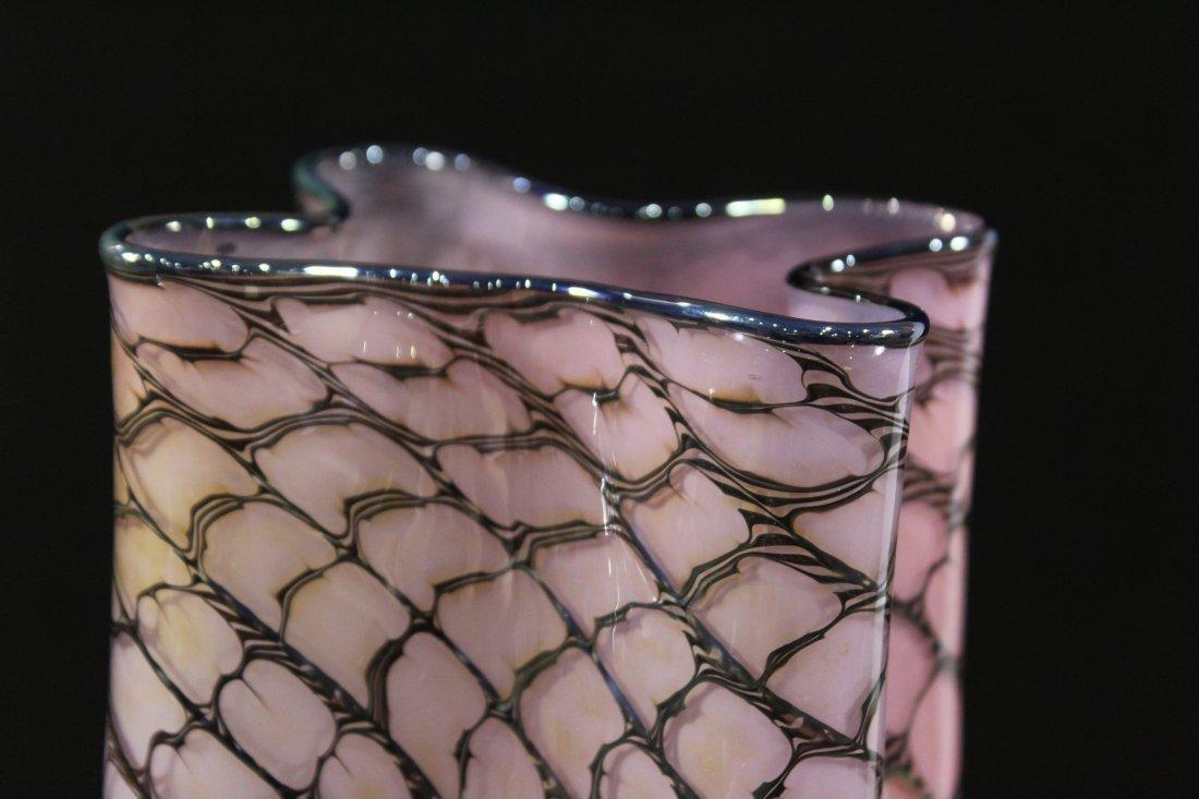 "Super Mid Century Italian Art Glass ""Paper Bag"" VASE - 2"