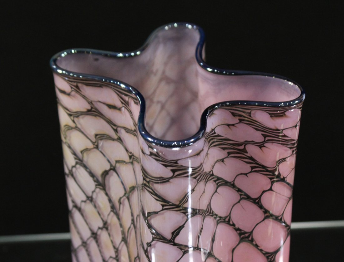 "Super Mid Century Italian Art Glass ""Paper Bag"" VASE - 6"