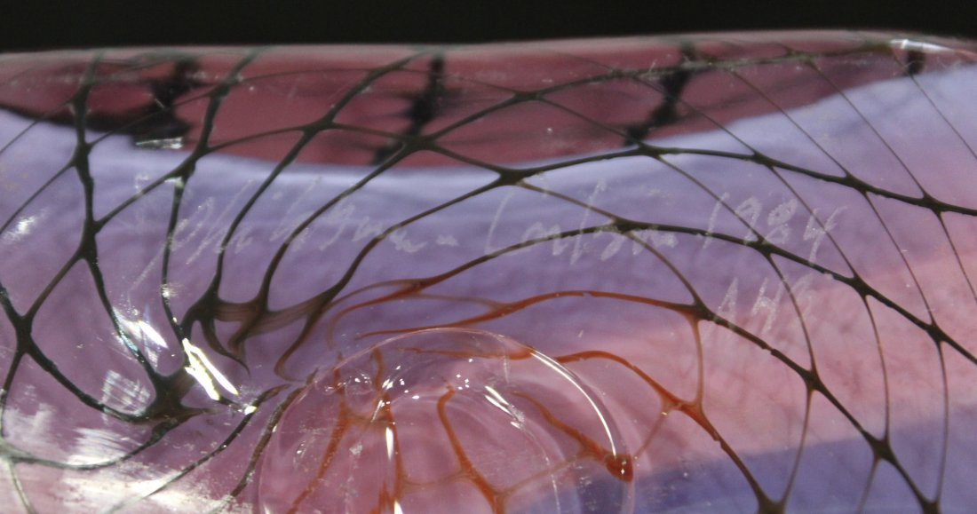 "Super Mid Century Italian Art Glass ""Paper Bag"" VASE - 8"