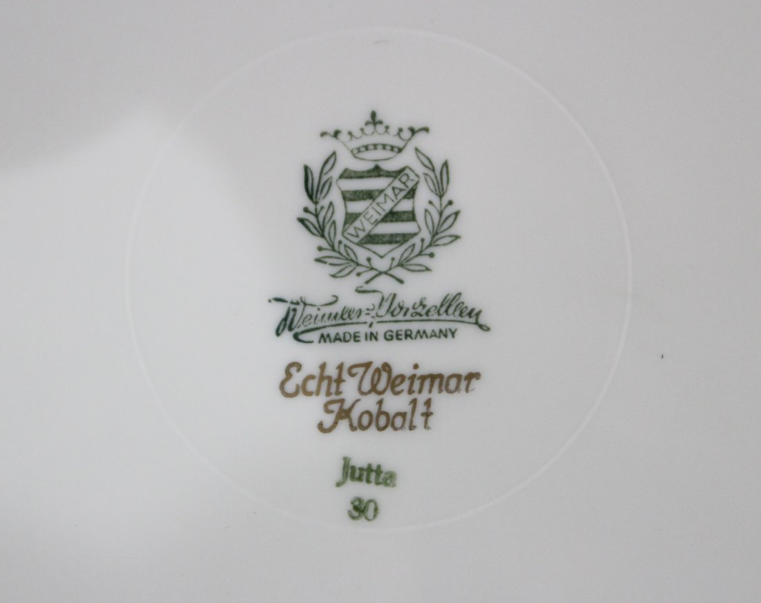 WEINAR GERMANY Echt Weimar Kobalt PORCELAIN CENTER BOWL - 4