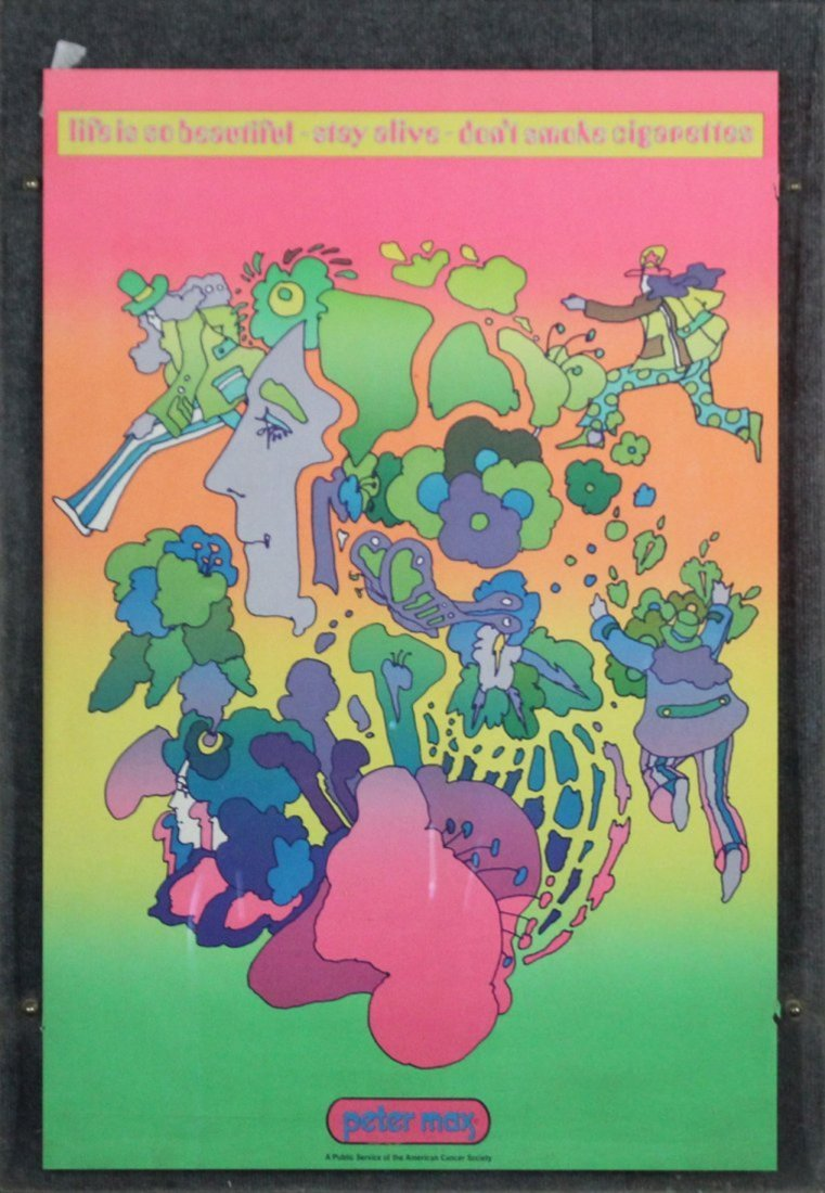 PETER MAX Original Pop Art Poster DON'T SMOKE CIGARETTE