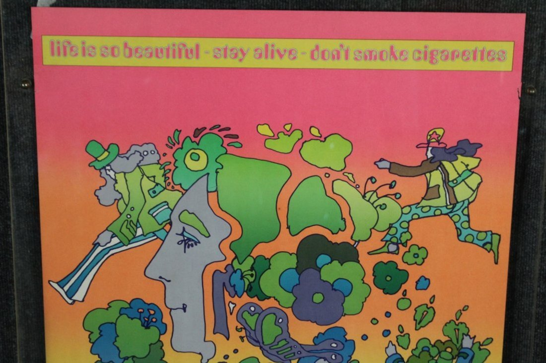 PETER MAX Original Pop Art Poster DON'T SMOKE CIGARETTE - 3
