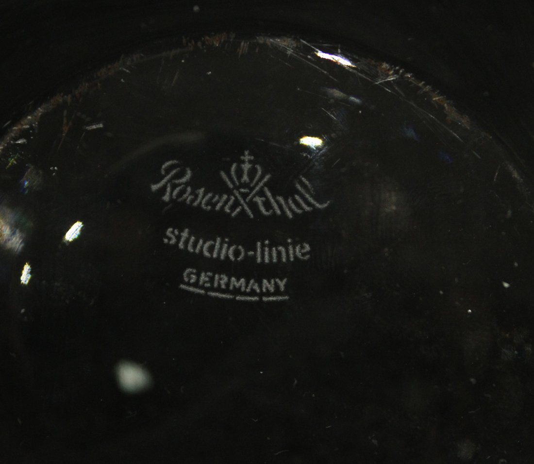ROSENTHAL Studio Linie GERMANY CRYSTAL RIPPLE BOWL - 5
