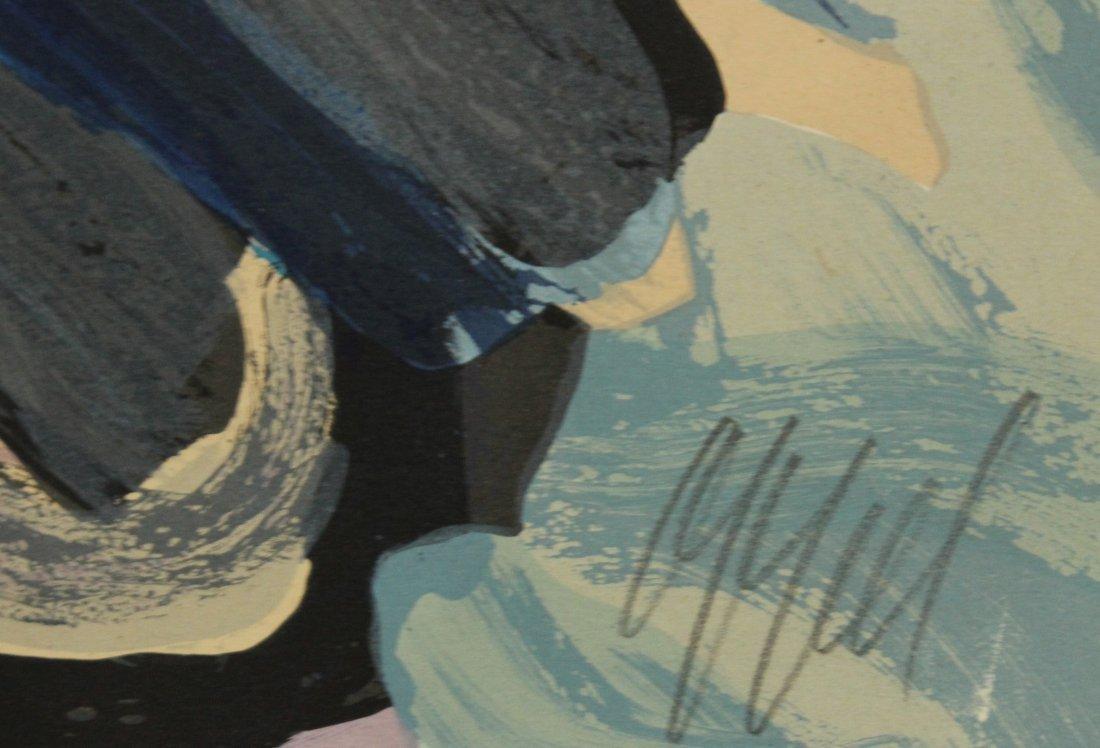 KAREL APPEL OFF-SET LITHOGRAPH #156 Ed 160 BLUE FIGURE - 3