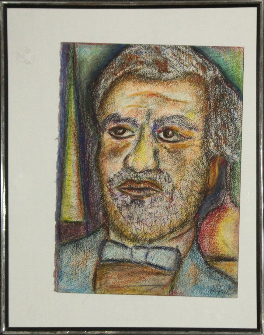 ZAPEL Mid Century Pastel Portrait Bearded Man
