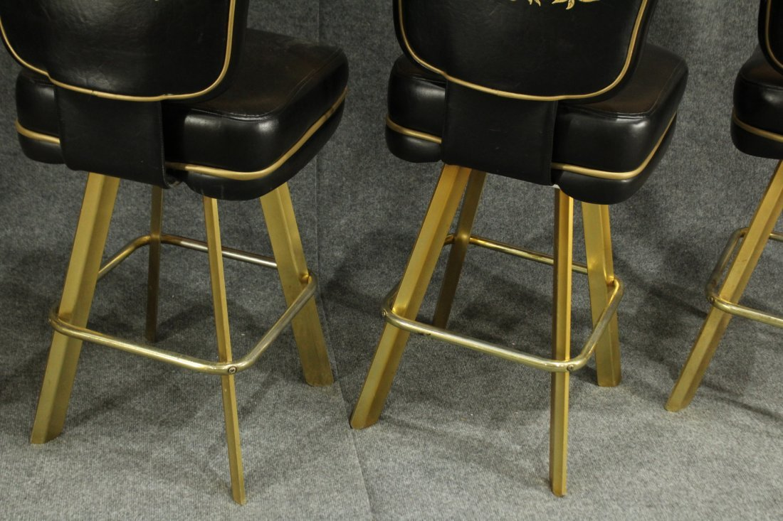 SET of 4 TRUMP PLAZA CASINO BLACKJACK BAR STOOLS - 4
