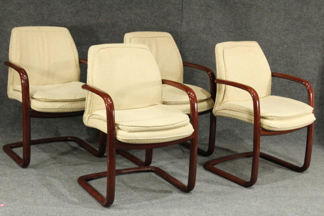 1980's Mid-century modern Gunlocke arm chairs