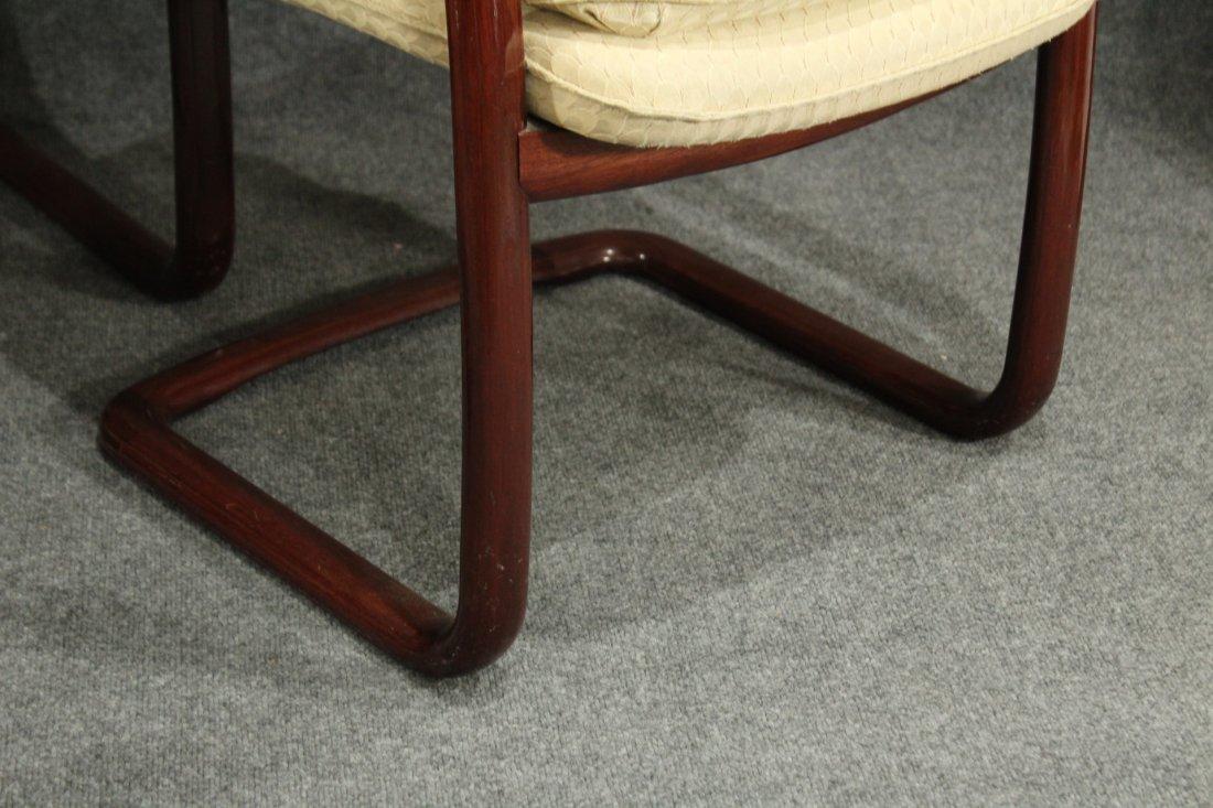 1980's Mid-century modern Gunlocke arm chairs - 3