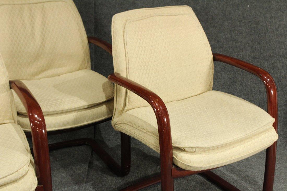 1980's Mid-century modern Gunlocke arm chairs - 4