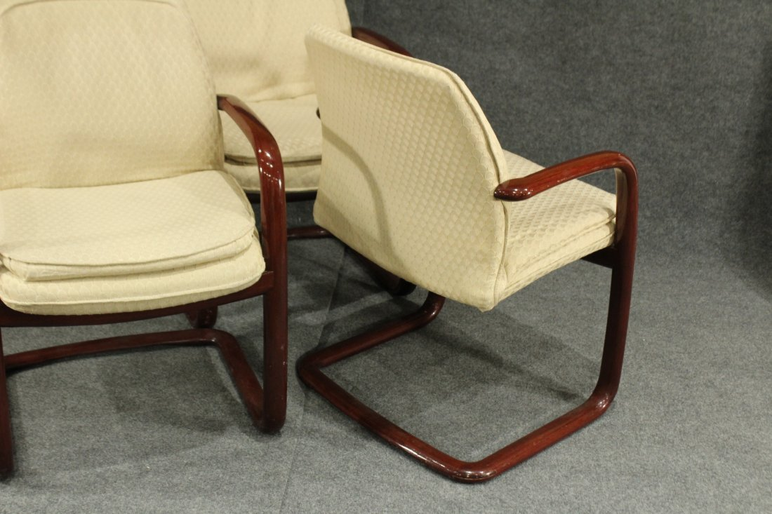 1980's Mid-century modern Gunlocke arm chairs - 5