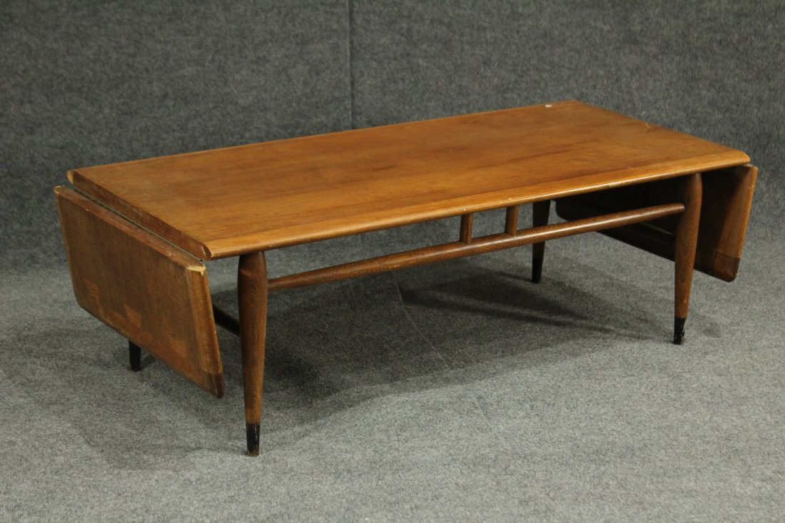 Mid Century LANE WALNUT DROP LEAF SIDES COFFEE TABLE
