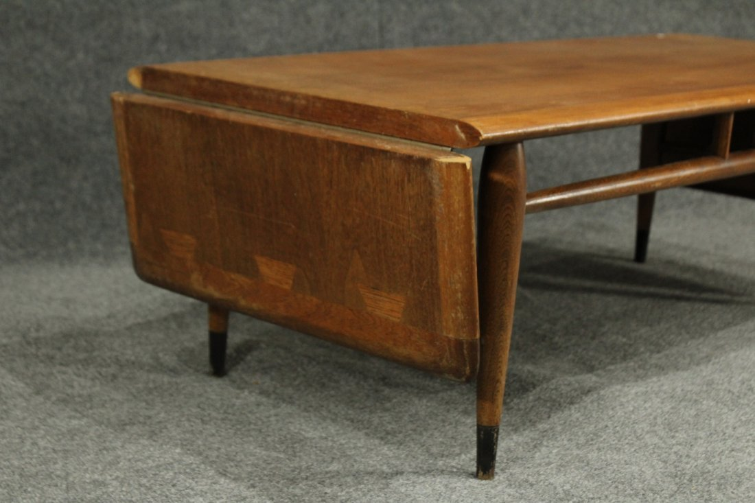 Mid Century LANE WALNUT DROP LEAF SIDES COFFEE TABLE - 2