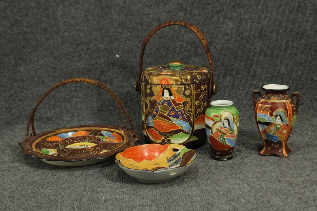 Vintage Japense Satsuma picnic set