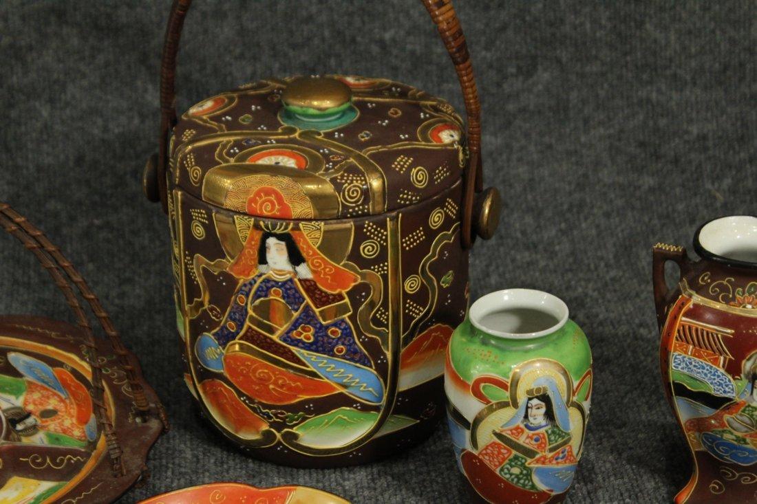 Vintage Japense Satsuma picnic set - 3