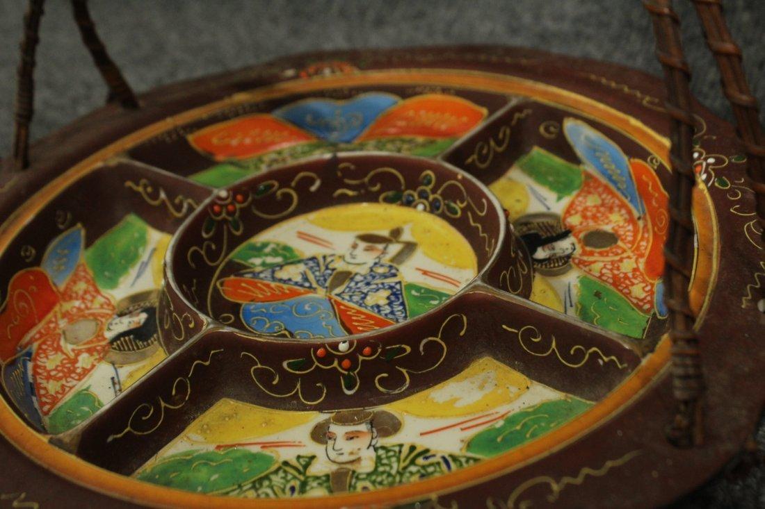 Vintage Japense Satsuma picnic set - 9