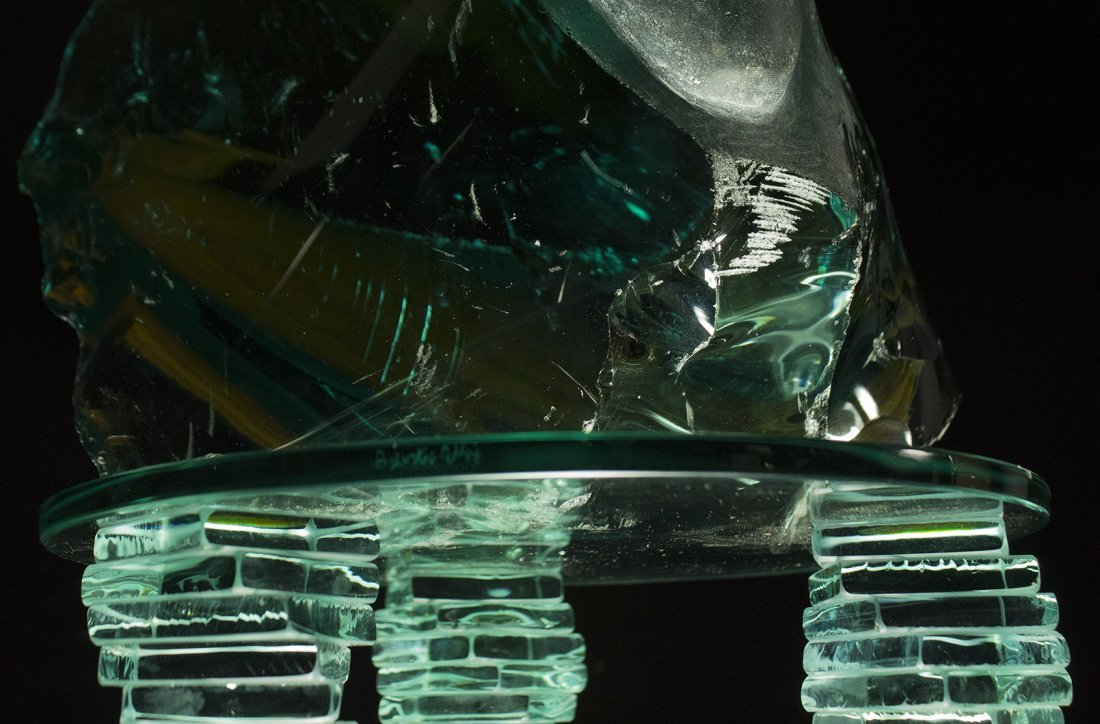 "Yucel Kale ""Untitled-2"" glass sculpture - 3"