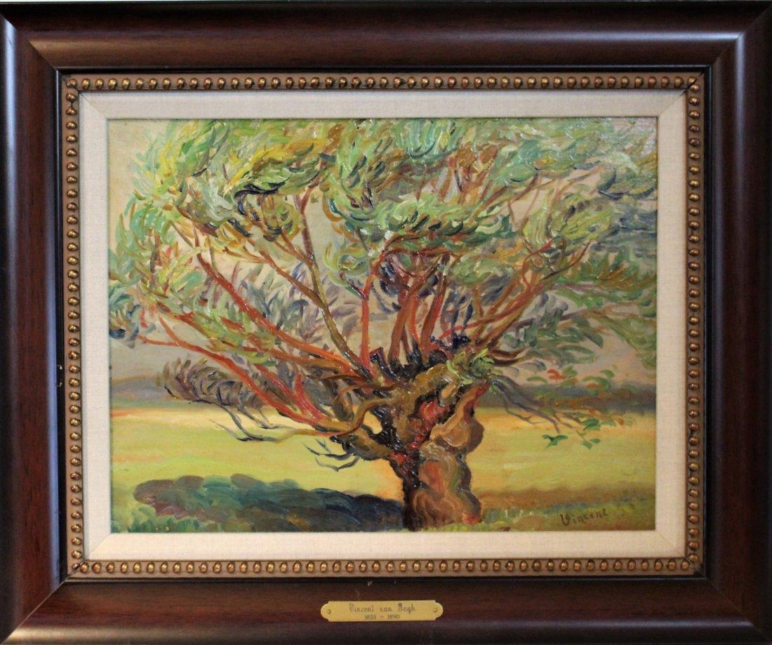 VINCENT VAN GOGH 1853-1890 Attributed/Manner OIL/B TREE