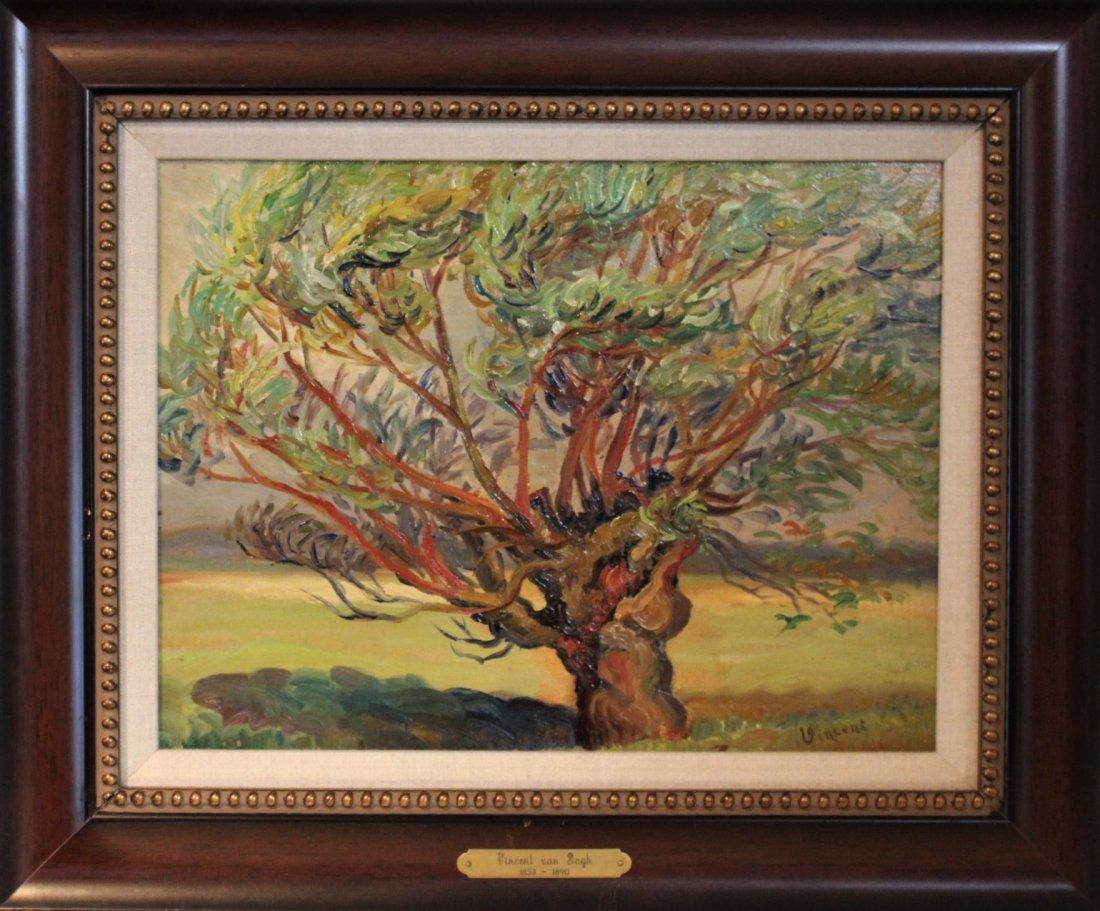 VINCENT VAN GOGH 1853-1890 Attributed/Manner OIL/B TREE - 2