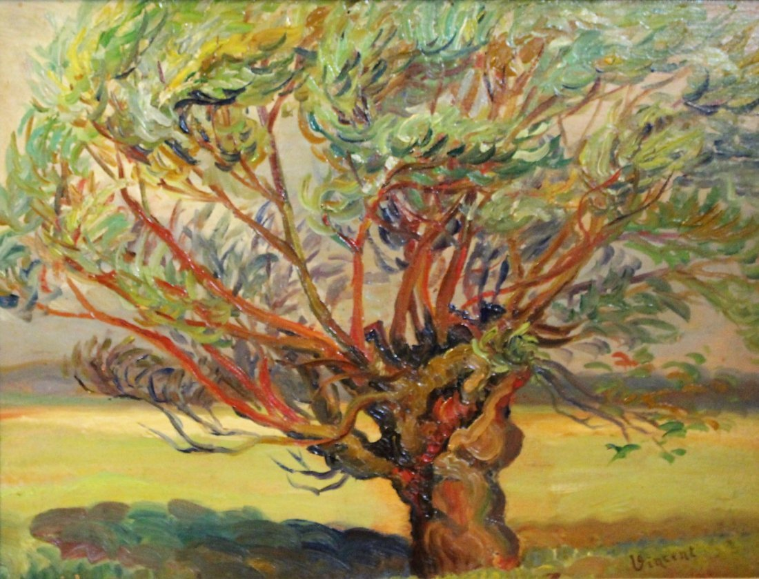 VINCENT VAN GOGH 1853-1890 Attributed/Manner OIL/B TREE - 3