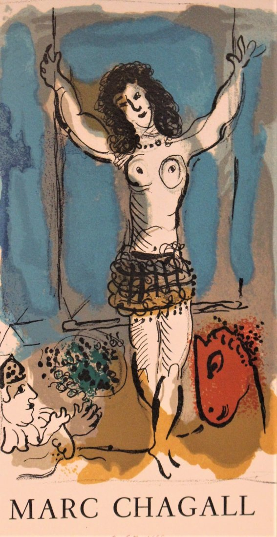 MARC CHAGALL Off-Set Lithograph ACROBAT Pencil Numbered