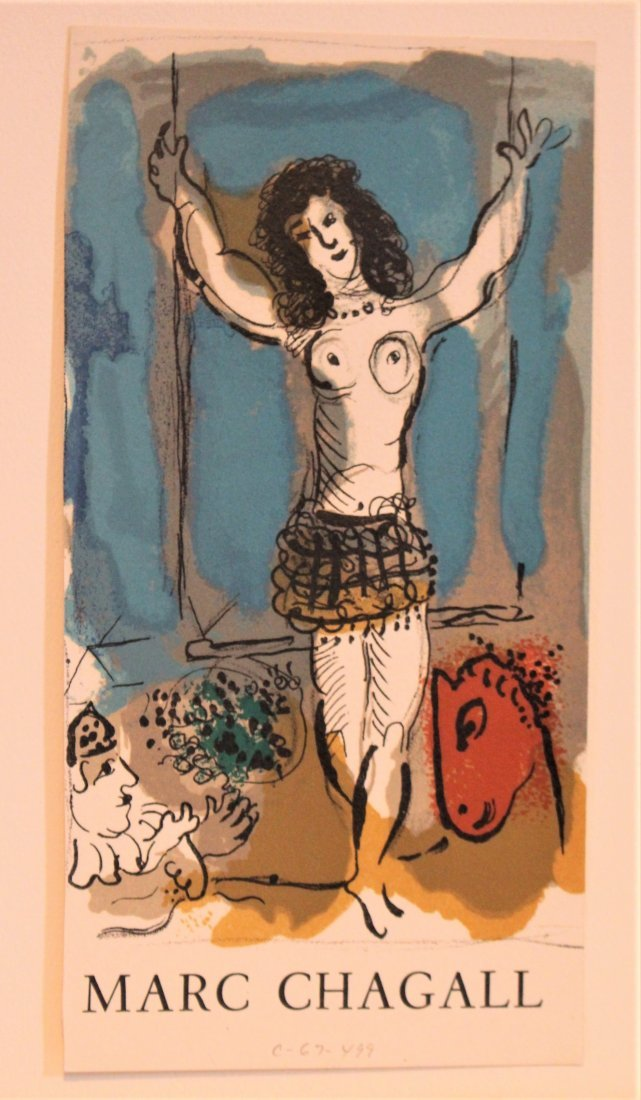 MARC CHAGALL Off-Set Lithograph ACROBAT Pencil Numbered - 2