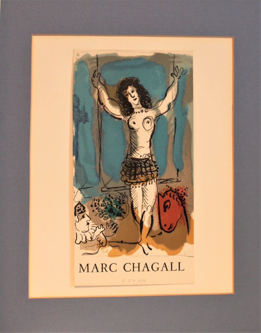 MARC CHAGALL Off-Set Lithograph ACROBAT Pencil Numbered - 3