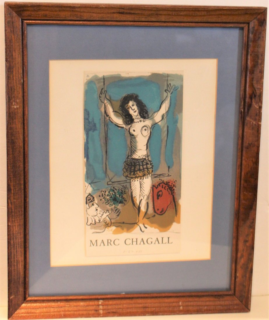 MARC CHAGALL Off-Set Lithograph ACROBAT Pencil Numbered - 5