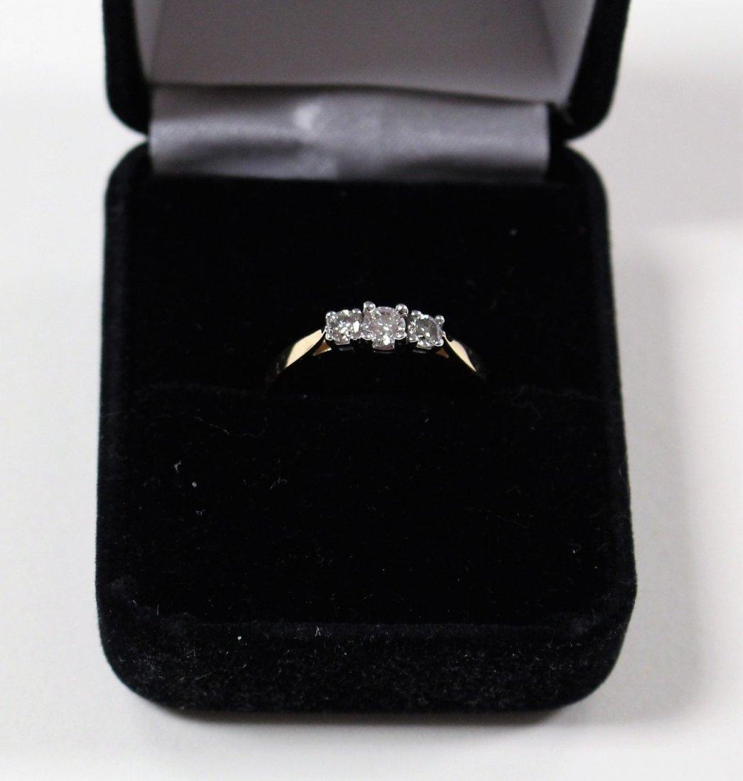 DIAMOND RING 14 K WHITE GOLD, PAST, PRESENT, FUTURE - 2