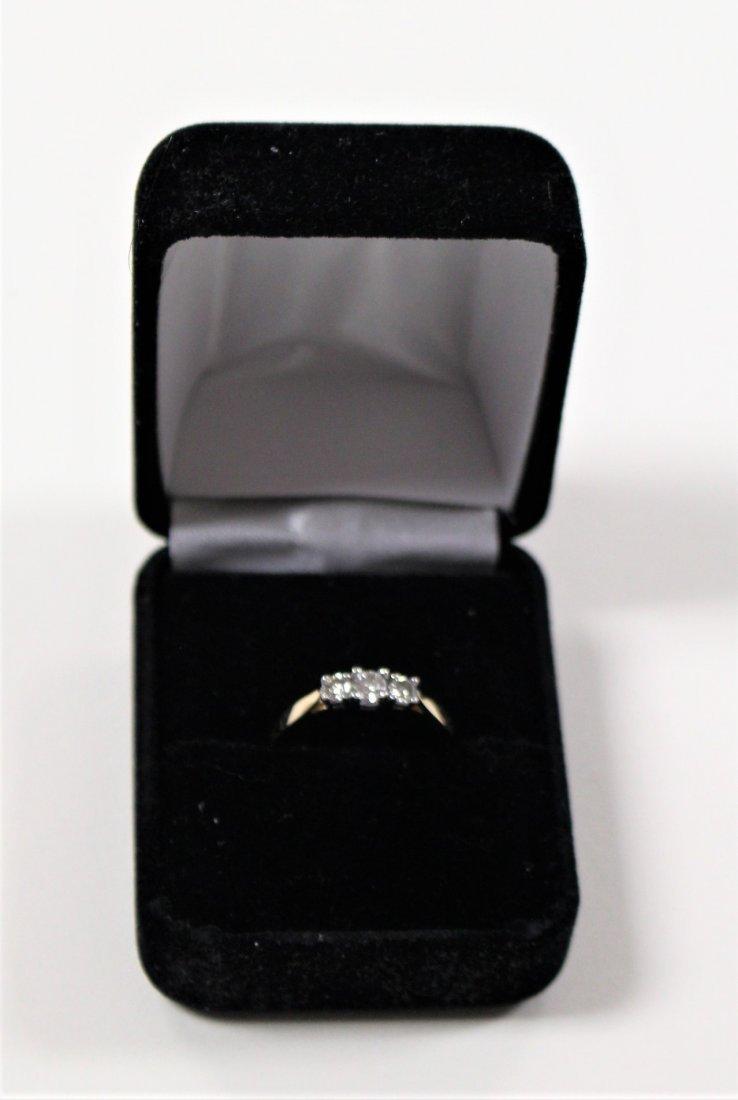 DIAMOND RING 14 K WHITE GOLD, PAST, PRESENT, FUTURE - 3