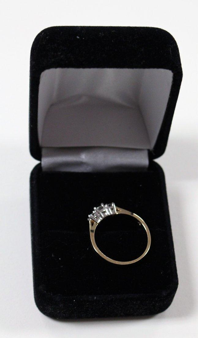 DIAMOND RING 14 K WHITE GOLD, PAST, PRESENT, FUTURE - 4