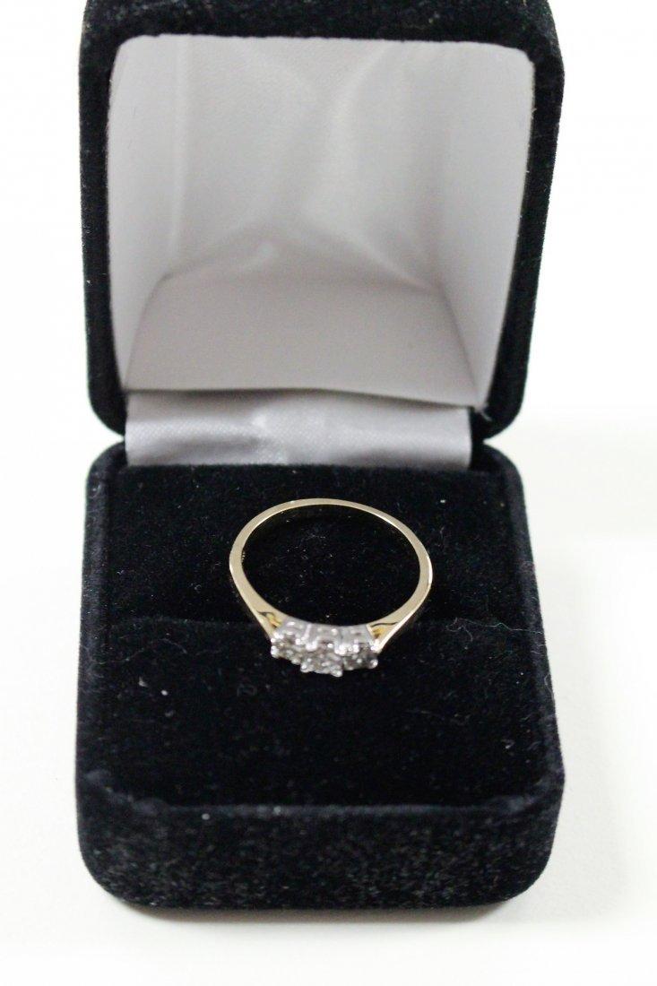 DIAMOND RING 14 K WHITE GOLD, PAST, PRESENT, FUTURE - 5