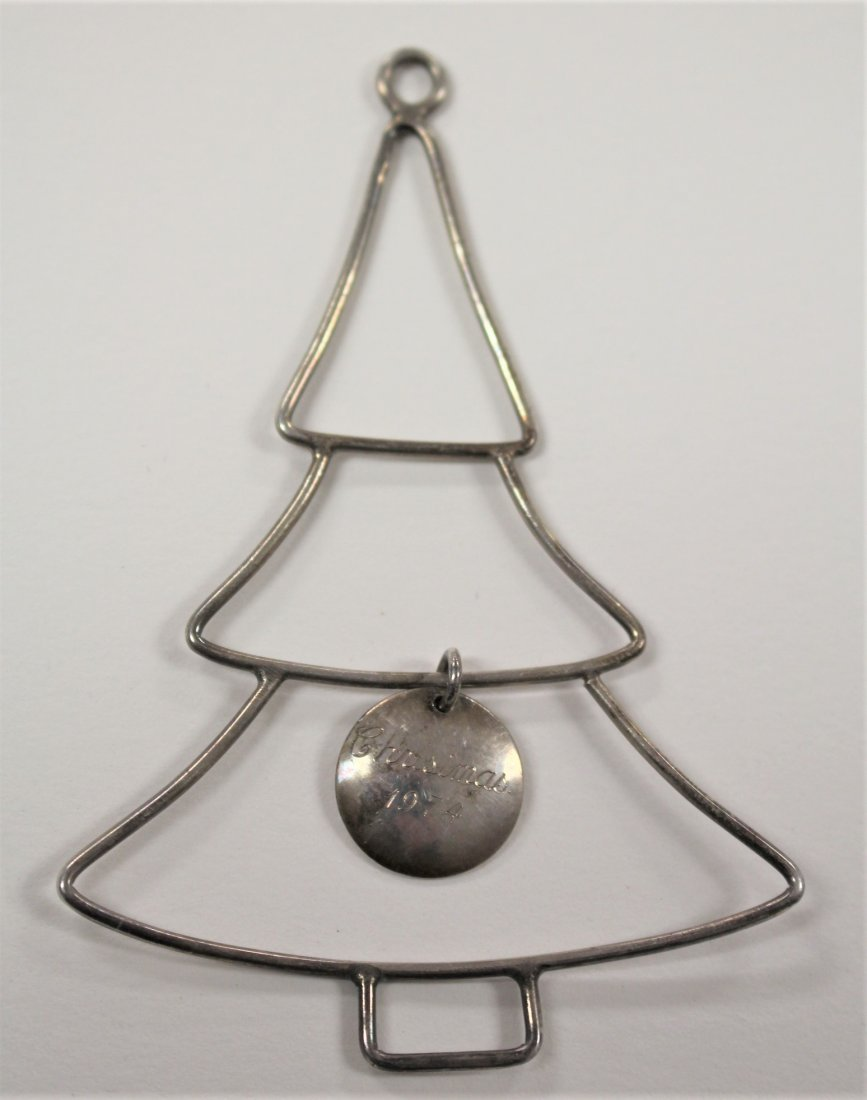 STERLING SILVER CHRISTMAS TREE ORNAMENT 1974
