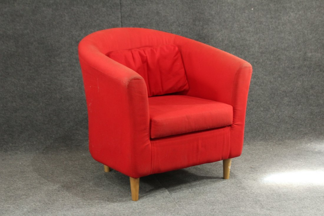 Mid-century style red lounge chair
