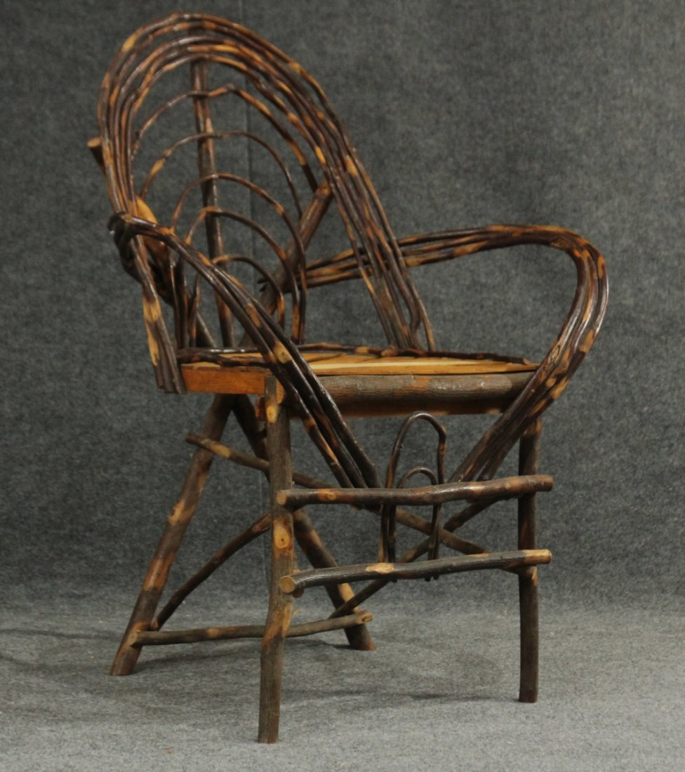 Adirondack Willow Weaved Branches Arm Chair
