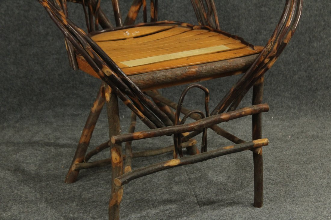 Adirondack Willow Weaved Branches Arm Chair - 4