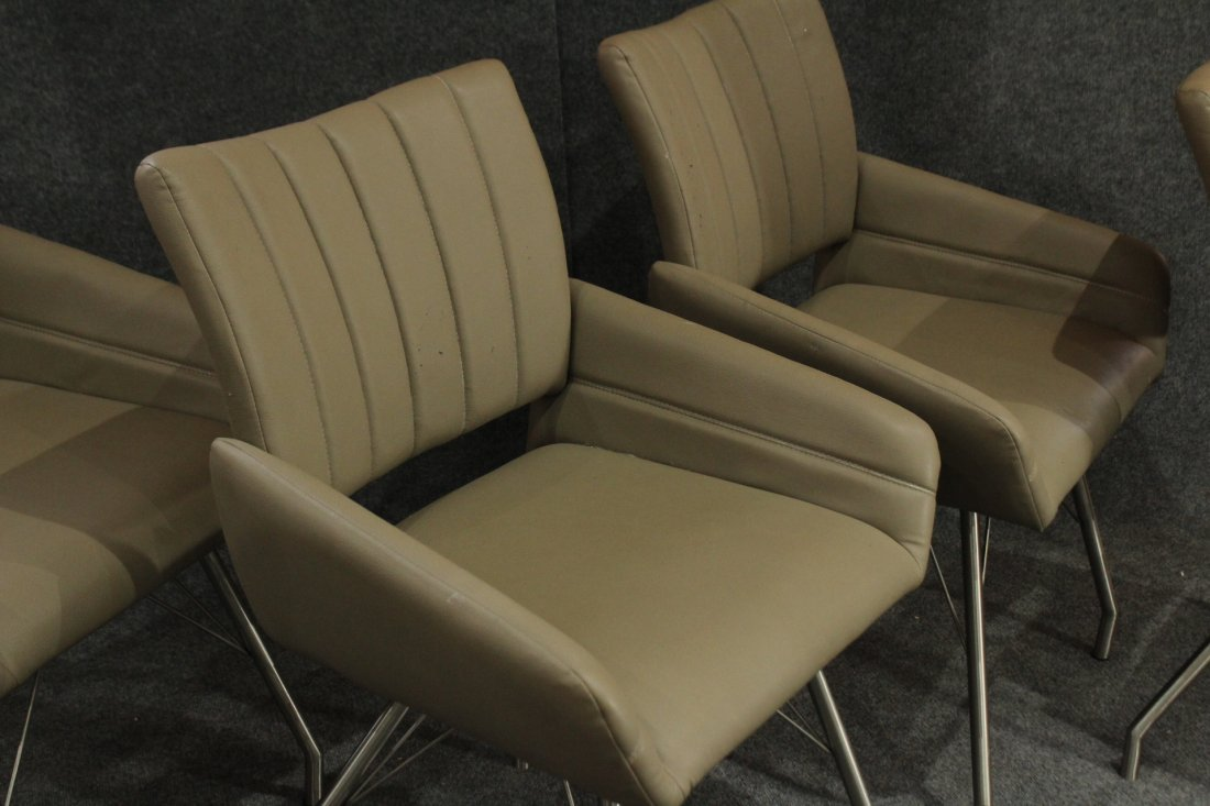 4 (four) Modern ITALIAN CHAIRS chrome hair pin legs - 2